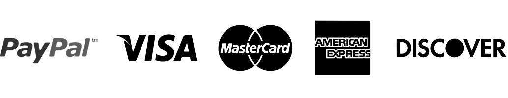 Logos for different credit and debit cards and payment methods